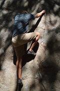 Rock Climbing Photo: John on Pincracks and Pinwheels (V0).