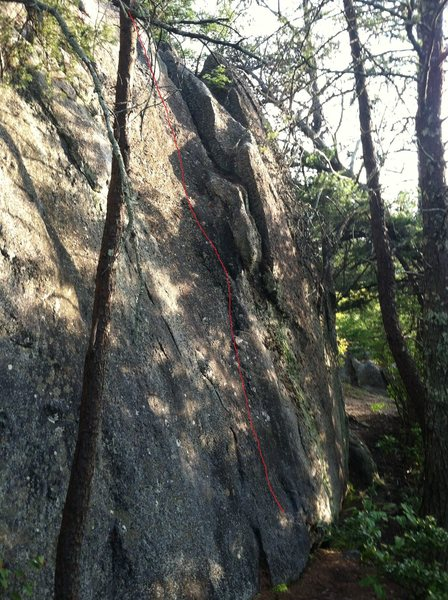 Rock Climbing Photo: slab right behind old folks home