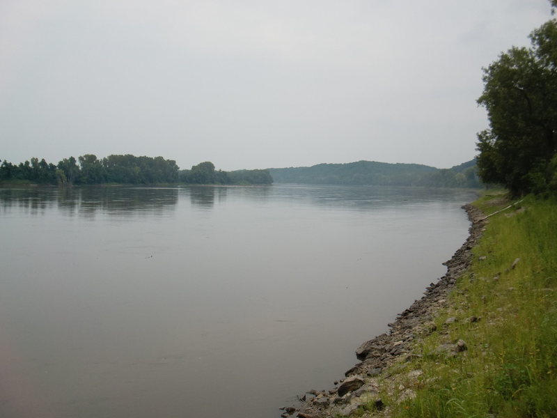 Looking north up the Missouri River not far from the Wilton area.