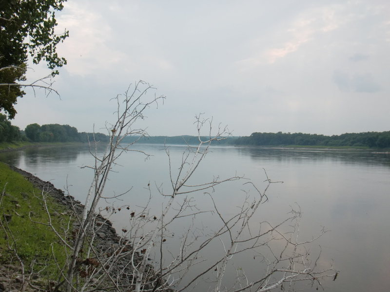 Looking south down the Missouri River not far from the Wilton area.