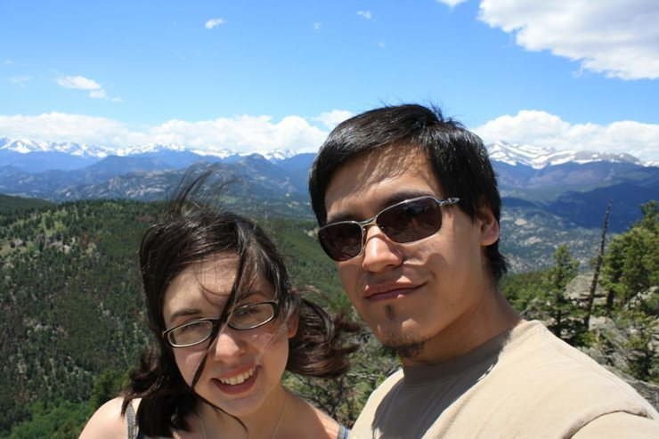 Just a picture of me (right) and my fiancee Kris at Mt Crosier