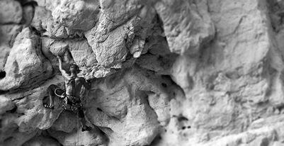 Rock Climbing Photo: Brian on the start.