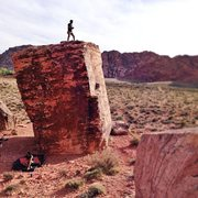 Rock Climbing Photo: Standing on top of the cube, pads beneath Perfect ...