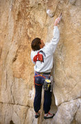 Rock Climbing Photo: Mike Lechlinski on an early lead.  I think the big...