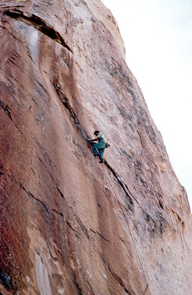 Rock Climbing Photo: Doug Munoz rocking the EB's back around 1979/80 or...