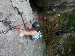 Rock Climbing Photo: Pic of me on Sidewinder at Draper's Bluff in south...