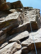 Rock Climbing Photo: The route follows the rope.