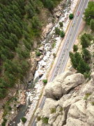 Rock Climbing Photo: US Pro Cycling Tour from the top of the Brown Pala...