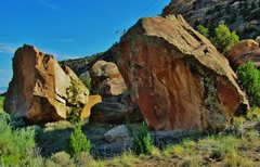 Rock Climbing Photo: Declassified Boulder is on the right.  This is the...
