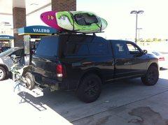 Rock Climbing Photo: truck setup