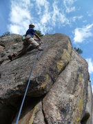 Rock Climbing Photo: Mid-route.