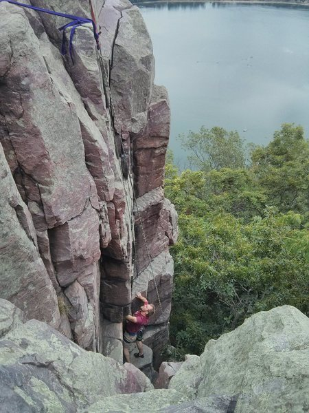 Rock Climbing Photo: view from Mickey/Minnie Mouse/Mum