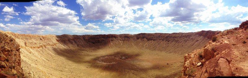 Rock Climbing Photo: Meteor crater