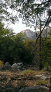 Rock Climbing Photo: Suicide Rock from north face trail. Had to stop to...