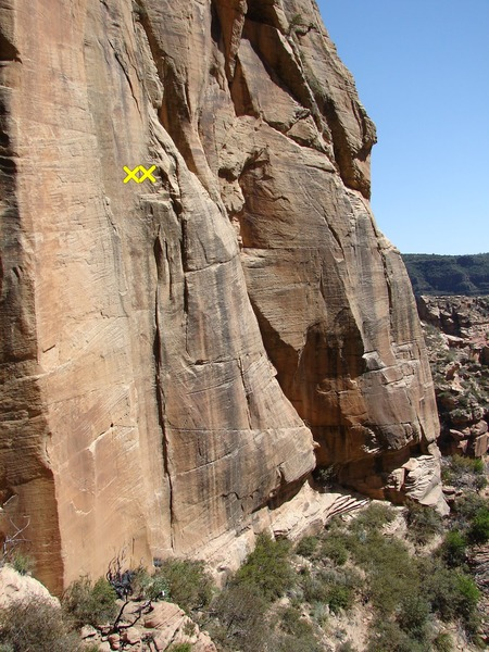"""""""Sterling <em>Sliver</em>"""" is the shaded crack feature in the middle of the picture."""