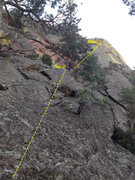 Rock Climbing Photo: Looking up to the 3rd temporary Upper Peanuts rapp...