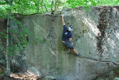 Rock Climbing Photo: Sticking the throw on Mayhem