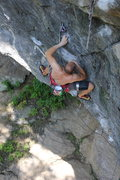 Rock Climbing Photo: Andy on the link up traverse