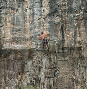 Rock Climbing Photo: The finish of Boom! is on perfect stone.