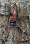 Rock Climbing Photo: Starting the Crux