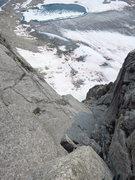 Rock Climbing Photo: Upper dihedrals on Woza Moya.  Photo: Corey Gargan...