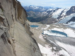 Rock Climbing Photo: Fine vistas from the upper dihedral on Woza Moya. ...