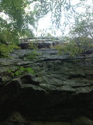 Rock Climbing Photo: Lower Wall Route, possibly an unnamed 5.9 sport ro...