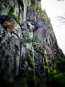 Rock Climbing Photo: Jonathan starting pitch 1 of Greenwall