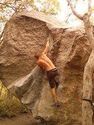 Rock Climbing Photo: Dat back-flag