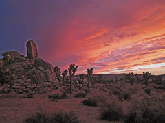 Rock Climbing Photo: Sunset at Headstone