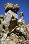 Rock Climbing Photo: The two pinnacles just up from and east of the Stu...
