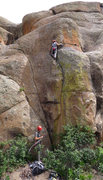 Rock Climbing Photo: Me nearing the second tricky part of Jack and Dian...