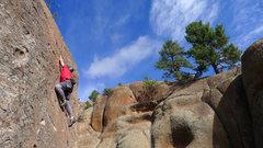 Rock Climbing Photo: Climber on Ms. Cool.