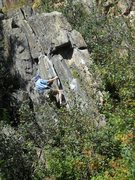 """Rock Climbing Photo: Keith on """"Beer Me"""" (Cheers, Patrick of R..."""