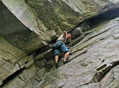 Rock Climbing Photo: Not as bad as it looks - lots of stemming and foot...