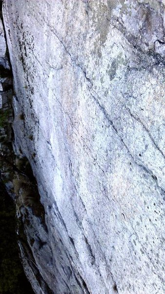 Rock Climbing Photo: The beautiful and blank second pitch of 3 doves. C...