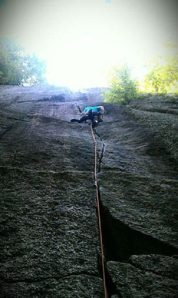 Rock Climbing Photo: Just under the crux