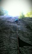 Rock Climbing Photo: Just under the crux