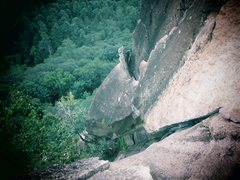 Rock Climbing Photo: The dreaded chimney downclimb transition from the ...