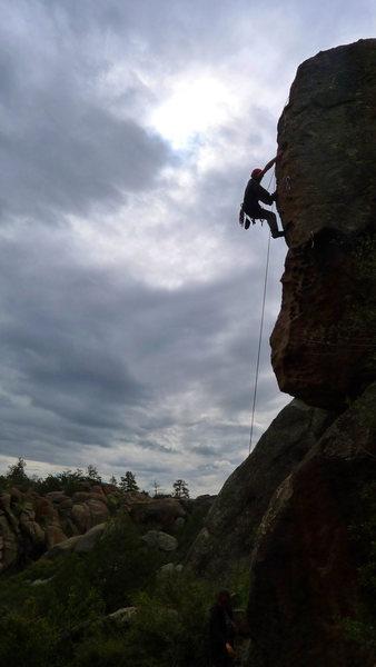 Rock Climbing Photo: Climber on Apes in Estrus.