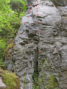 Rock Climbing Photo: Opal's Arete is the line in the center.