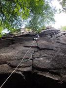 Rock Climbing Photo: John Hoffmann on Rockaholic, Lower Beer Wall