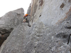 Rock Climbing Photo: The start of Lost Arrow Spire, City of Rocks, Idah...