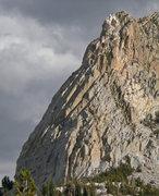 Rock Climbing Photo: NE side of North ridge of Crystal Crag