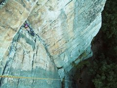 Rock Climbing Photo: Starting the traverse of Alphonse, photo taken by ...