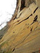 Rock Climbing Photo: walking the flake