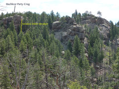 Rock Climbing Photo: Layout to the East from atop Slacker Dome.