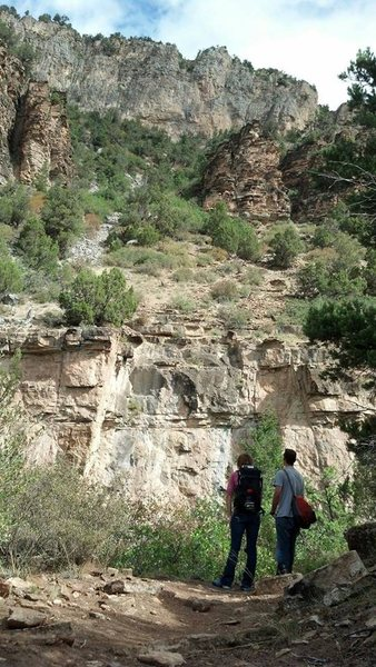 Rock Climbing Photo: View of the wall (lower wall in photo).