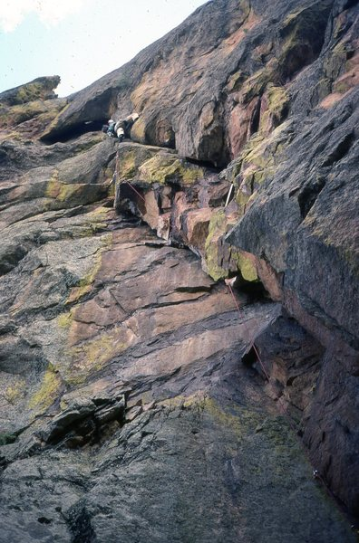 "Rock Climbing Photo: GB leading ""Quiche on a Leash,"" in March..."