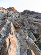 Rock Climbing Photo: This is looking up the first couple/three pitches ...